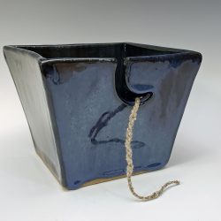 dark blue large yarn bowl