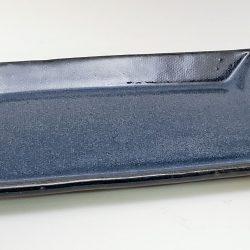 side plate in dark blue