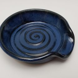 spoon rest in dark blue