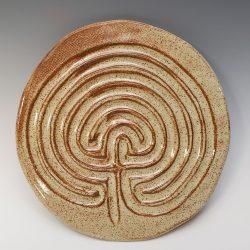 Celtic finger labyrinth in eggshell glaze