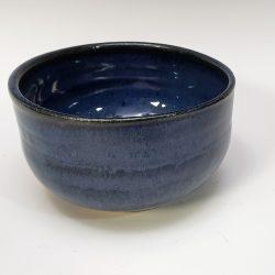 small dark blue bowl