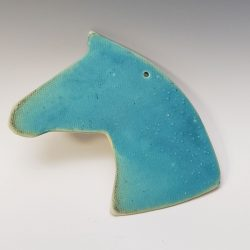 turquoise horsehead ornament