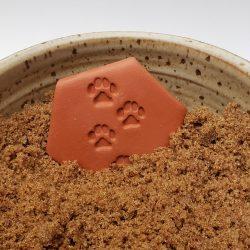 Paw prints brown sugar keeper