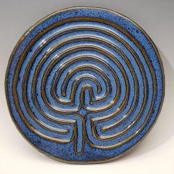 Celtic finger labyrinth in chambray