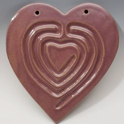 Heart finger labyrinth in purple