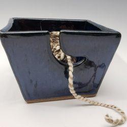 Small yarn bowl in dark blue