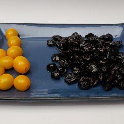 Serving platter in dark blue