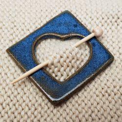 Chambray shawl pin