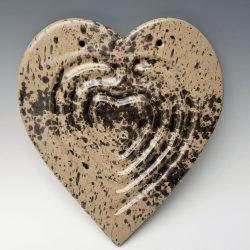 Heart finger labyrinth in splatter glaze